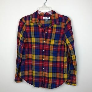 Classic Fit Old Navy Plaid Button Down